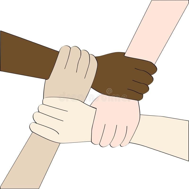 Manos de la diversidad (aisladas) libre illustration