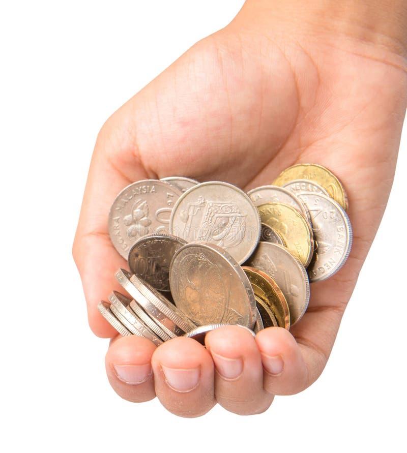 Manos de la muchacha con las monedas II imagen de archivo libre de regalías