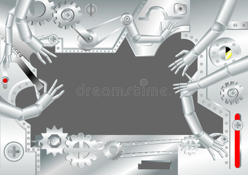 Manos de robustezas stock de ilustración