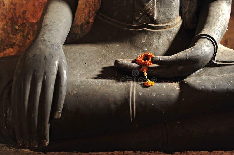 Manos del buddha fotografía de archivo