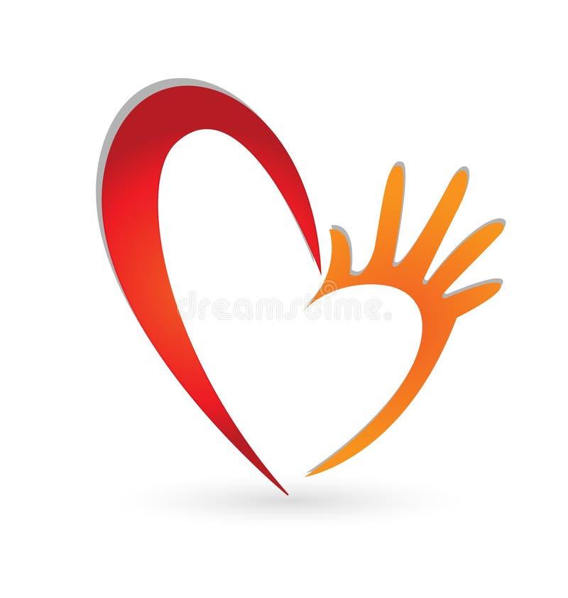 Manos del corazón  fotografía de archivo libre de regalías