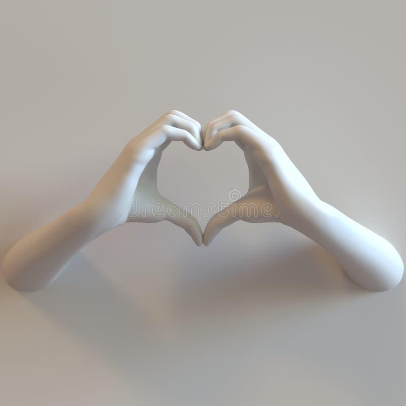 Manos del corazón del amor fotos de archivo