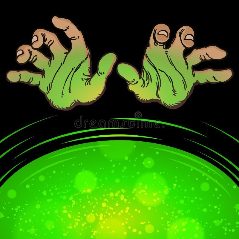 Manos del peligro del misterio ilustración del vector