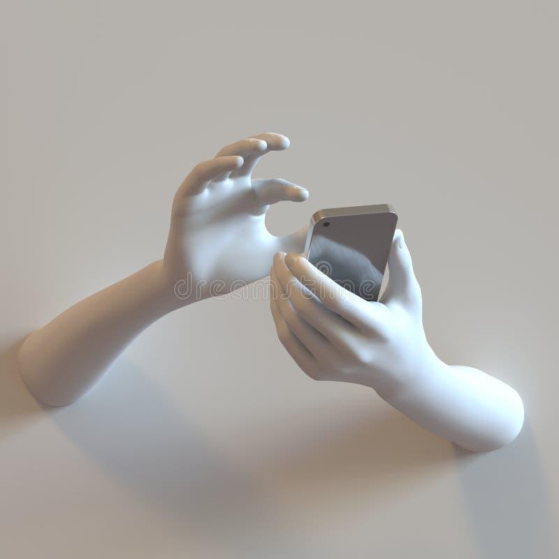 Manos del teléfono móvil foto de archivo libre de regalías