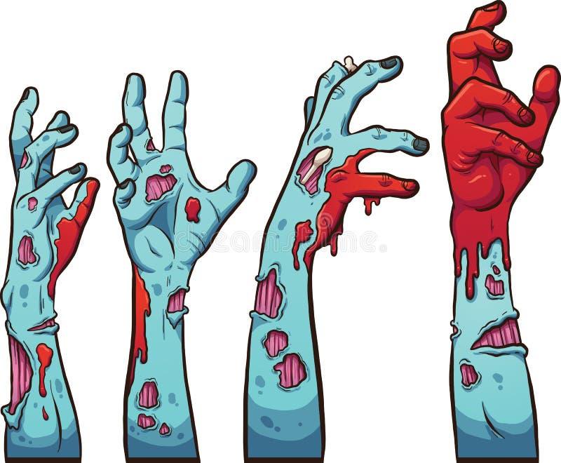Manos del zombi ilustración del vector