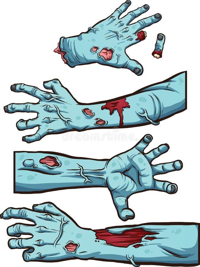 Manos del zombi libre illustration