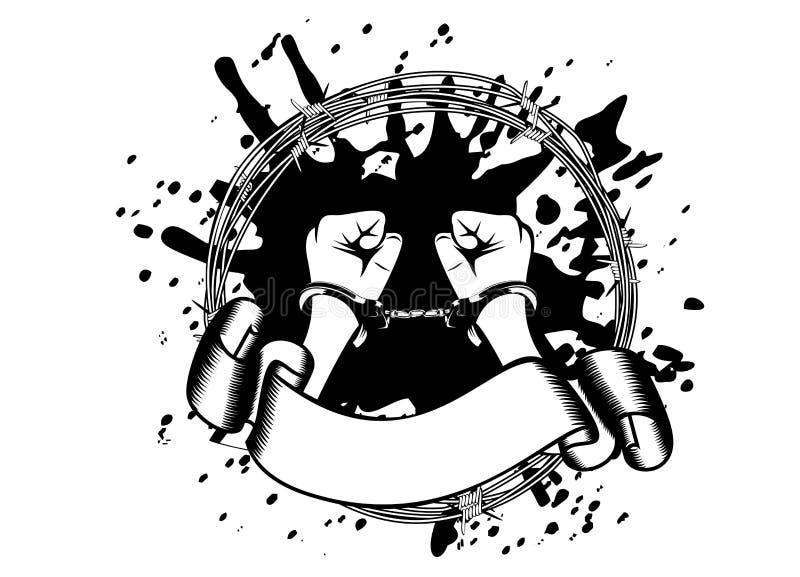 Manos en manillas libre illustration