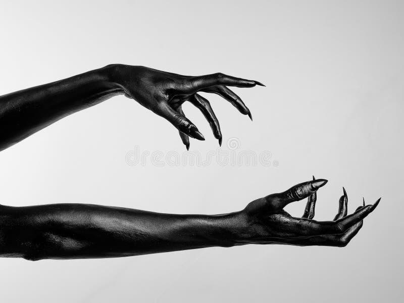 Manos finas negras de la muerte libre illustration