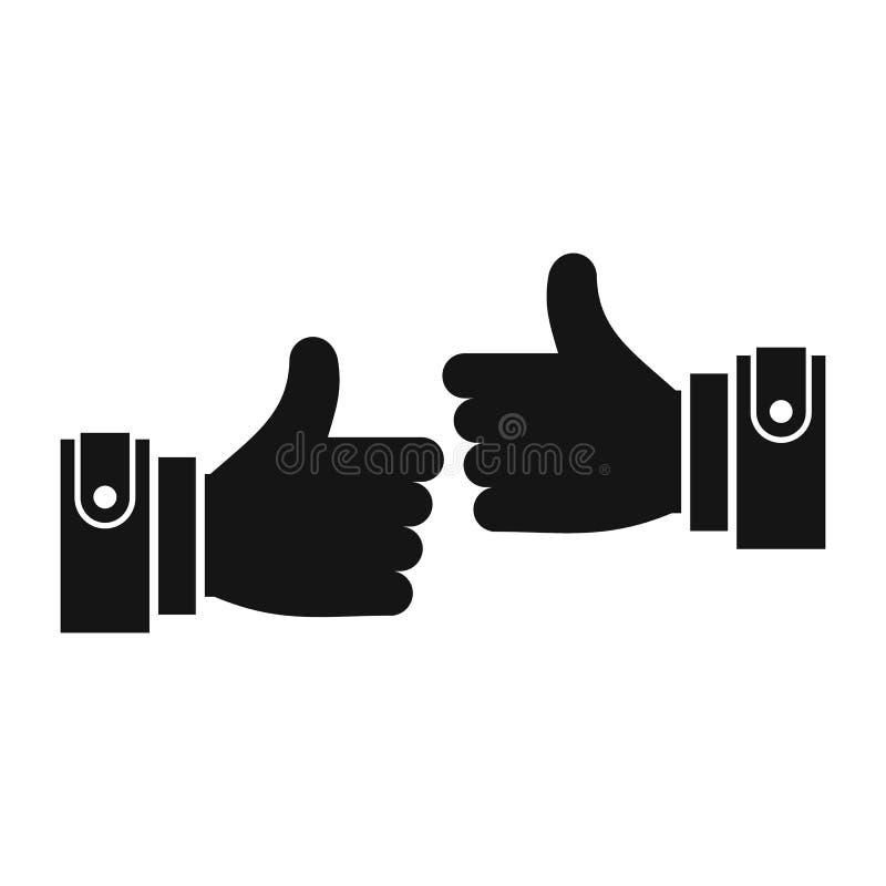 Manos masculinas que muestran el icono aceptable de la muestra stock de ilustración