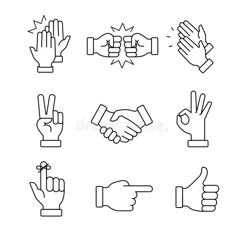 Manos que aplauden y otros gestos libre illustration
