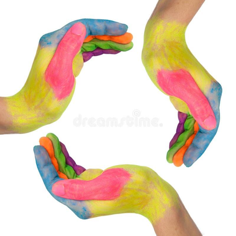 manos que hacen un círculo ilustración del vector