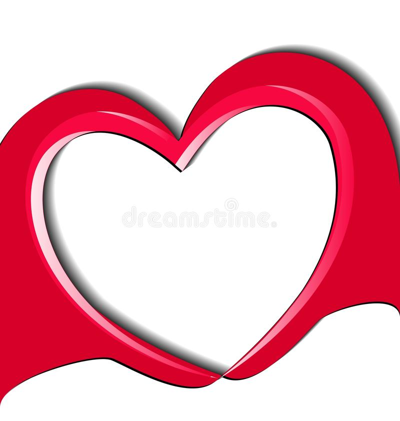Manos que hacen un vector del logotipo del corazón del amor libre illustration