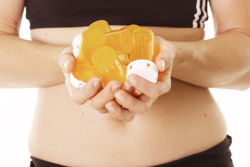 Manos que llevan a cabo prescripciones
