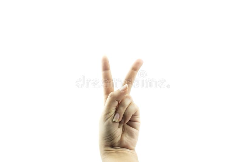 Manos que muestran gestos foto de archivo libre de regalías