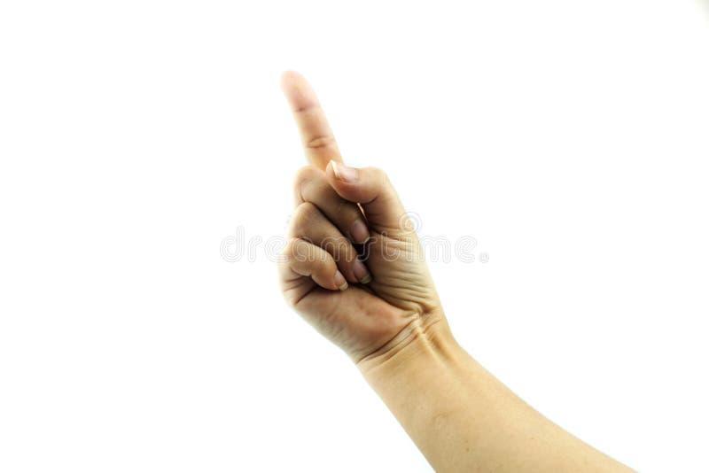 Manos que muestran gestos imagen de archivo