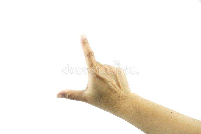 Manos que muestran gestos fotografía de archivo libre de regalías