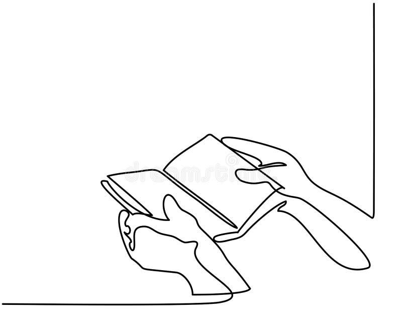 Manos que sostienen el libro de la biblia libre illustration