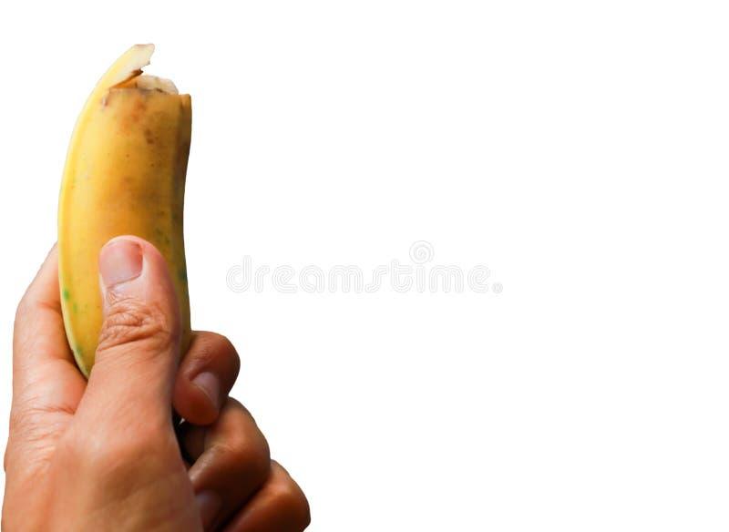 Manos que sostienen plátanos fotografía de archivo libre de regalías