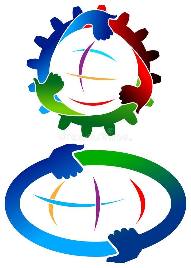 Manos redondas ilustración del vector