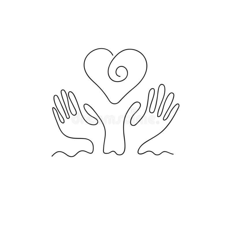 Manos y corazón libre illustration