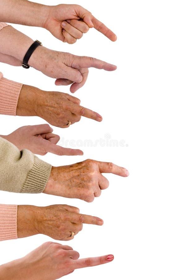 Manos y dedos imagen de archivo libre de regalías