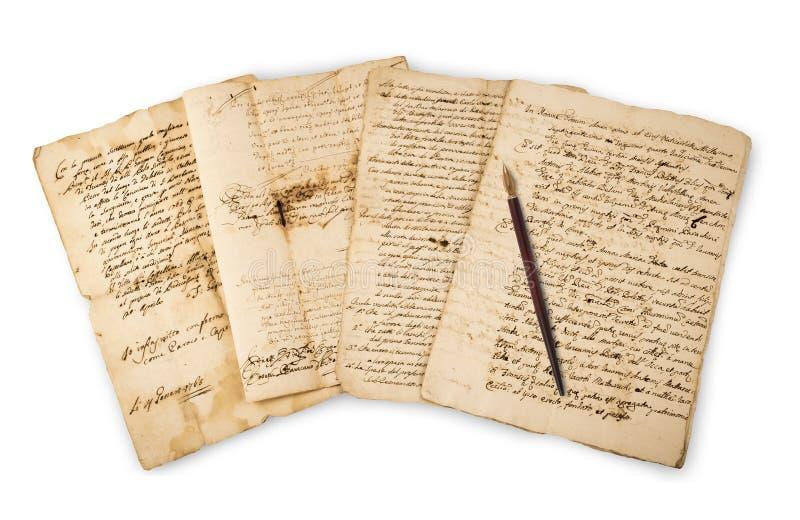 Manoscritti di Olds con il punto immagine stock libera da diritti