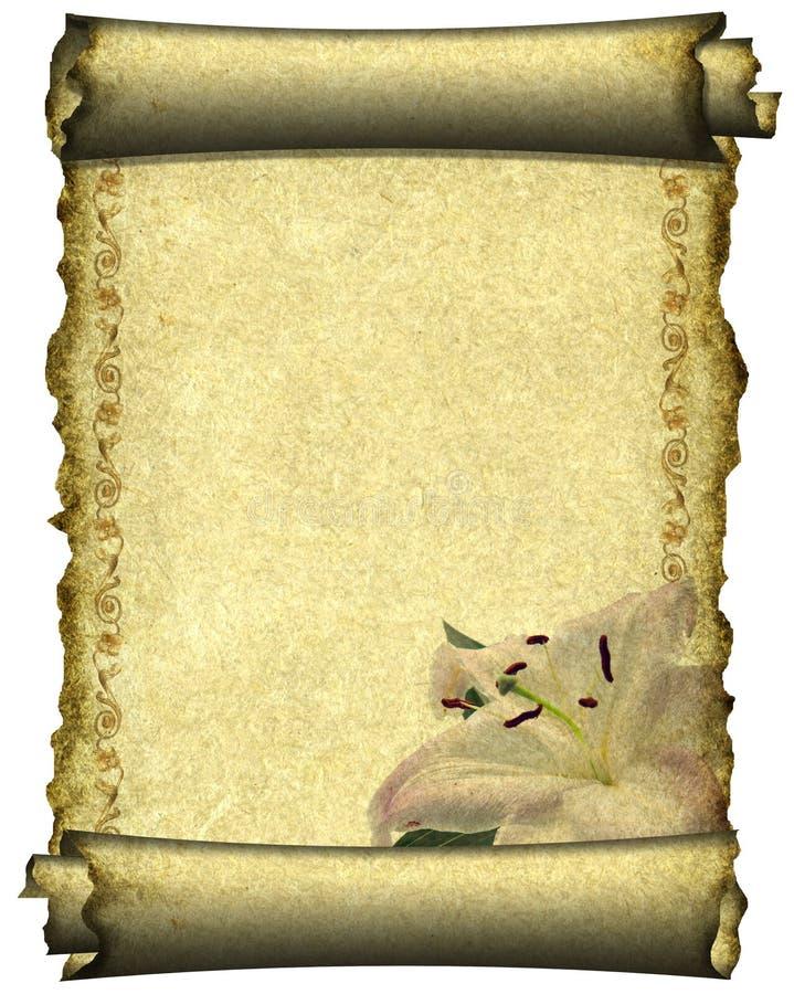 Manoscritto illustrazione di stock