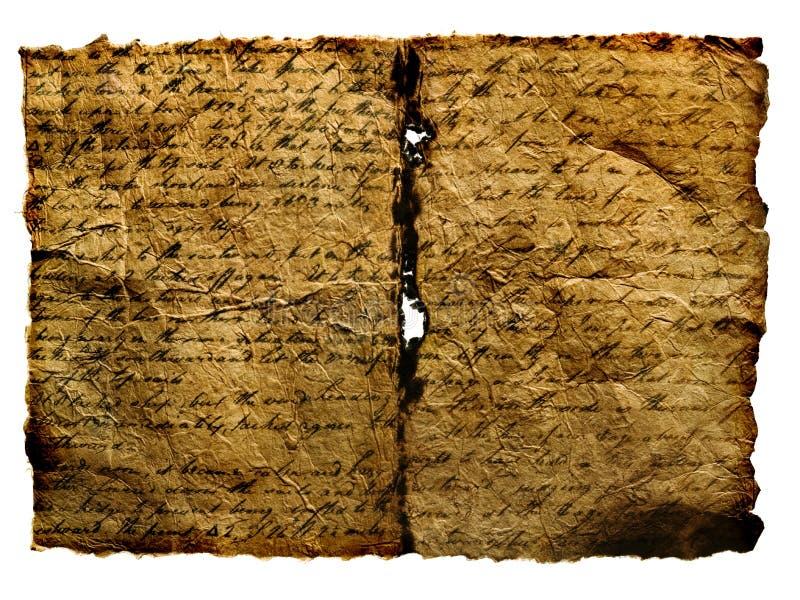 Manoscritto antico. fotografia stock libera da diritti