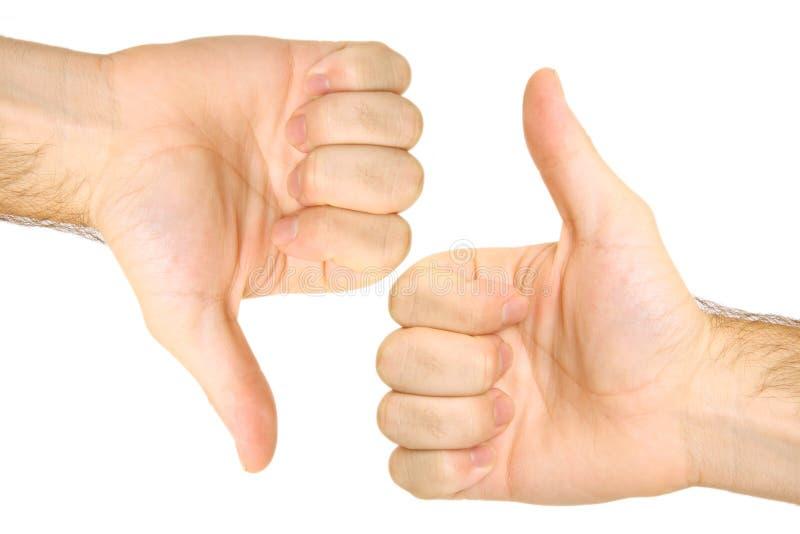 Manosea up/down con los dedos fotografía de archivo libre de regalías
