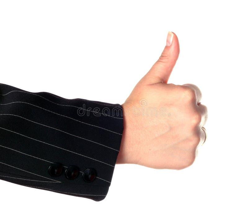 Manosee con los dedos encima de gesto foto de archivo libre de regalías