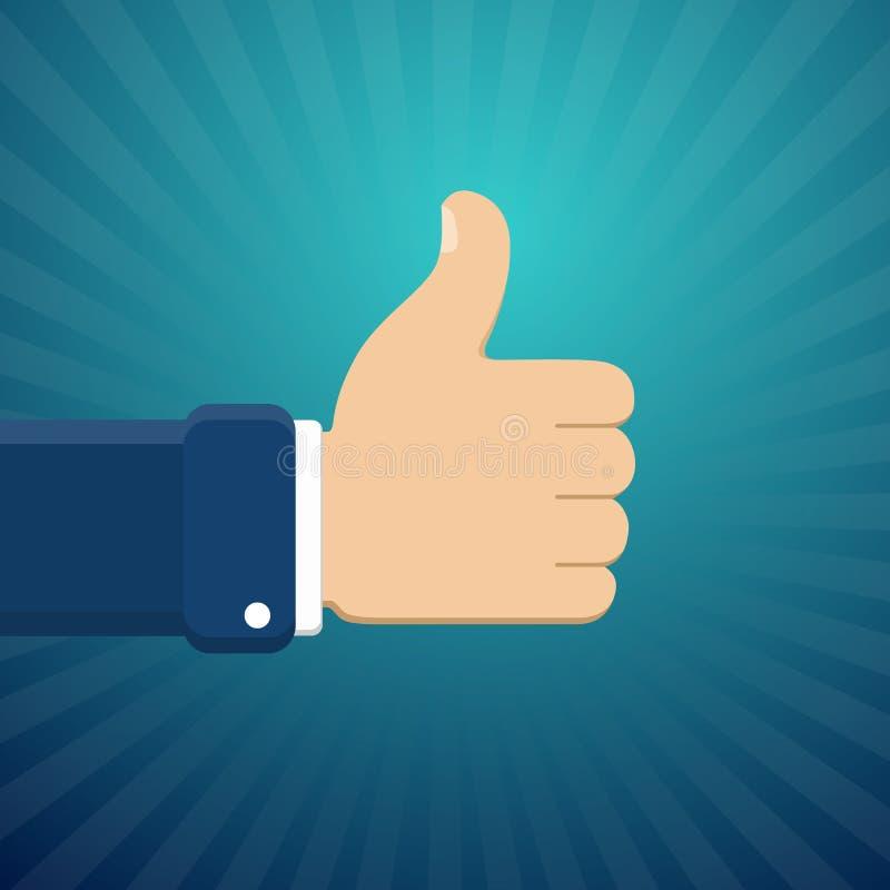Manosee con los dedos encima del símbolo, finger encima del ejemplo del vector Como el gesto Han ilustración del vector