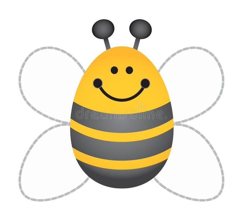 Manosee la abeja ilustración del vector
