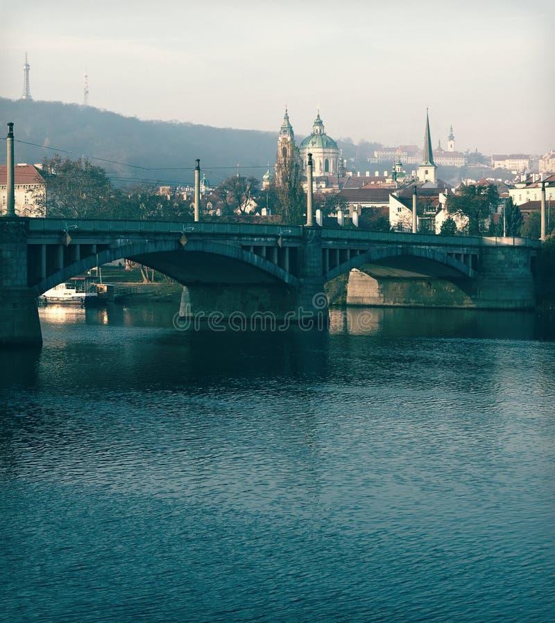 Manosuv桥梁 布拉格, Czechia 免版税库存照片