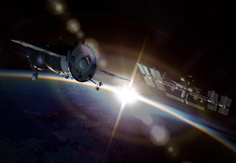 Manovra dello spazio all'orbita terrestre royalty illustrazione gratis