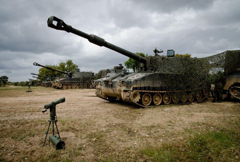 Manovre portoghesi dell'esercito fotografia stock