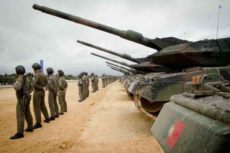 Manovre portoghesi dell'esercito fotografie stock