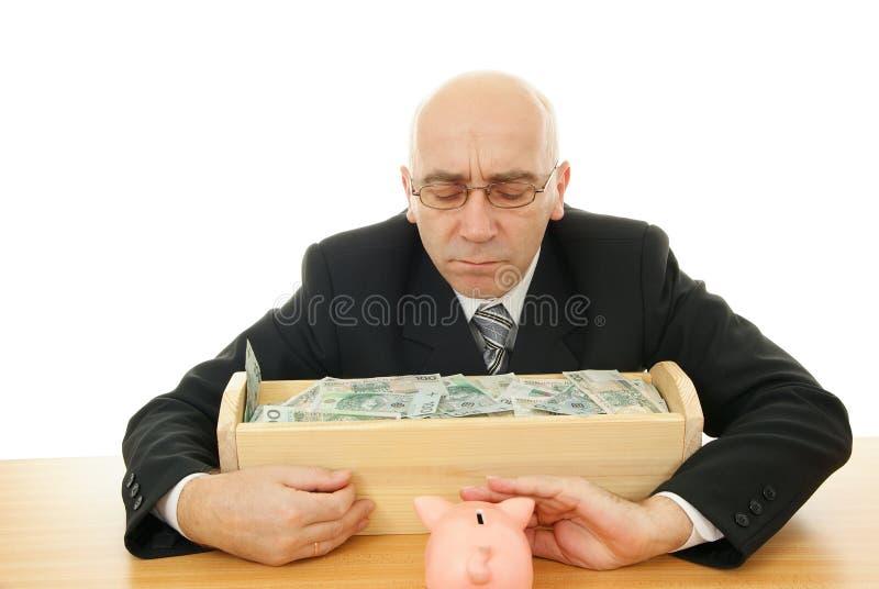 manpengar arkivbild
