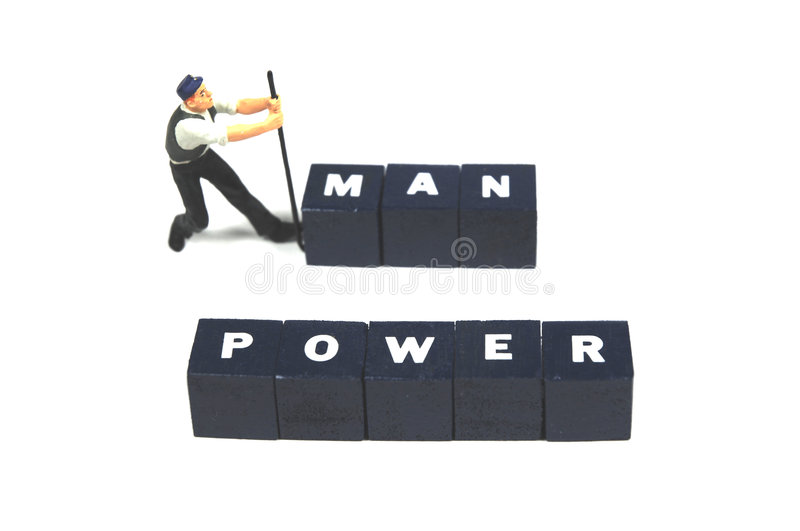 Manpower royalty free stock photos
