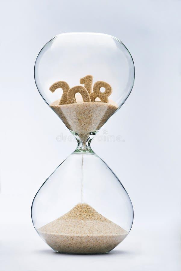 2018 manquant de temps image libre de droits
