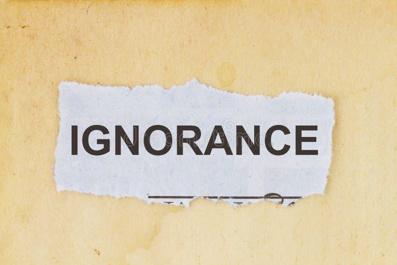 Manque d'ignorance de la connaissance photographie stock