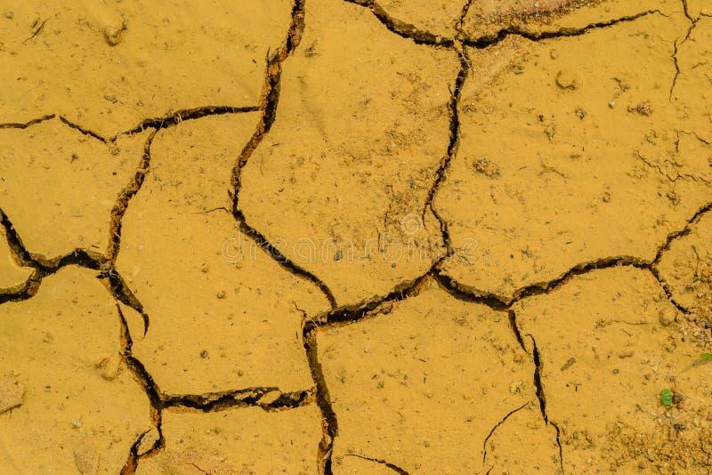 Manque de sol sec de l'eau image libre de droits