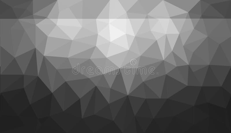 Manque et fond blanc de polygone d'abrégé sur gradient images libres de droits