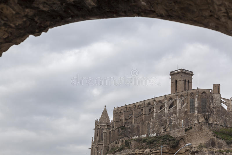 Manresa, Catalogna, Spagna fotografie stock libere da diritti