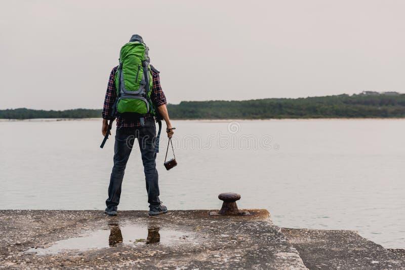 Manresanderyggsäck fotografering för bildbyråer