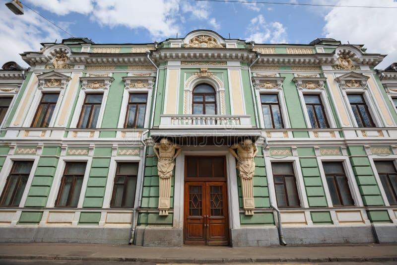 A mansão anterior de V e Morozov na Podsosensky-pista, construída 1878 Moscovo, Rússia foto de stock