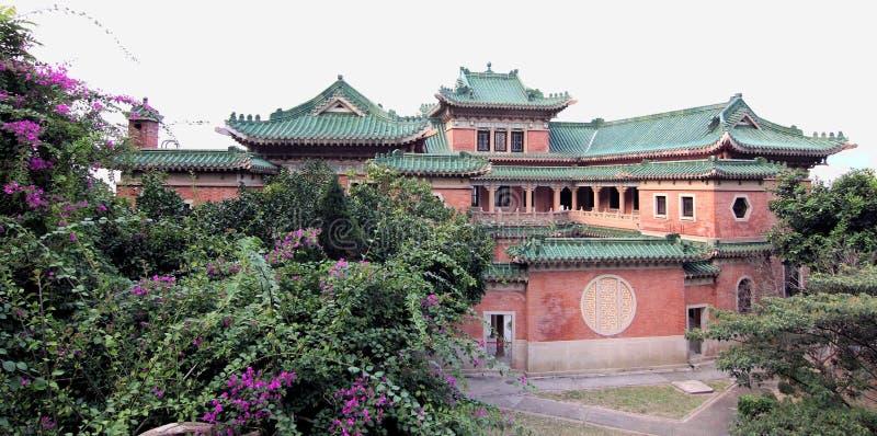 Mansão chinesa da herança na opinião do panorama imagem de stock royalty free