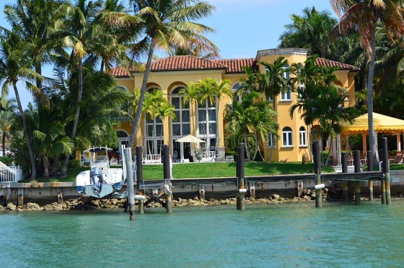 Mansão da excursão do barco de Miami da ilha da estrela fotos de stock
