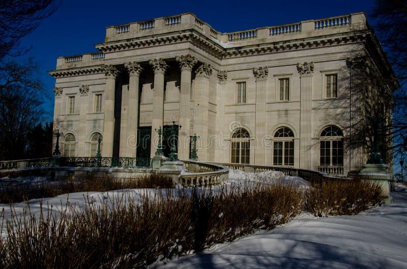 Mansão de mármore da casa - Newport, Connecticut, EUA foto de stock