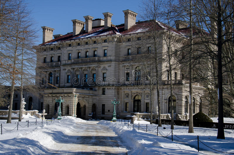 A mansão dos disjuntores - Newport, Connecticut, EUA fotografia de stock royalty free