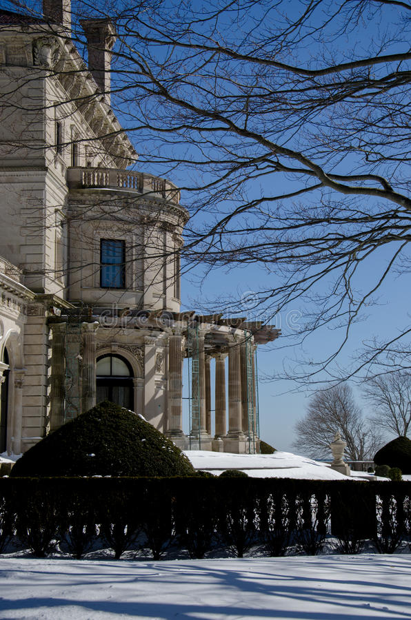 A mansão dos disjuntores - Newport, Connecticut, EUA foto de stock royalty free